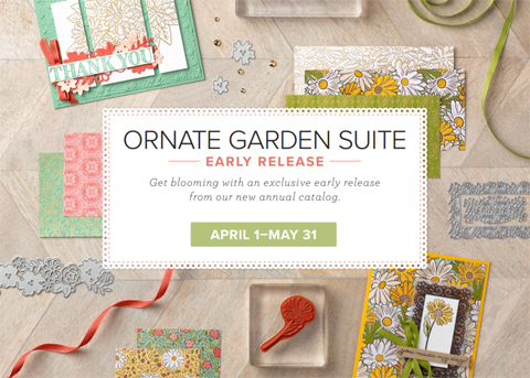 Stampin' Up! Ornate Garden Suite - Early Release April 1 - May 30, #dostamping #stampinup #cardmaking #papercrafting #ornategardensuite