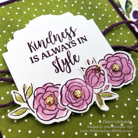 Stampin' Up! Best Dressed Suite fun fold card y Dawn Olchefske #dostamping #howdshedothat #stampinup #handmade #cardmaking #stamping #papercrafting