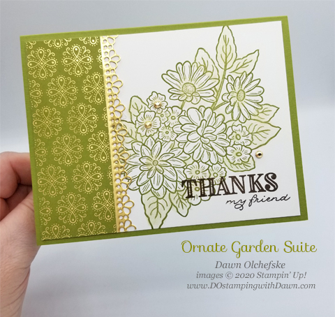 Simple but stunning Ornate Garden card by Dawn Olchefske #dostamping #howdshedothat #stampinup #handmade #cardmaking #stamping #papercrafting #ornategarden