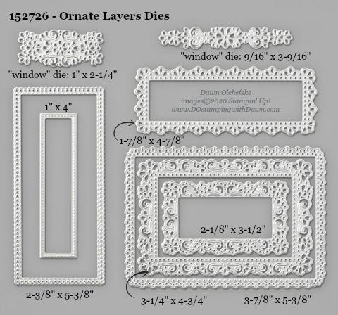 Stampin' Up! Ornate Layers Dies-152726 -  #DOstamping #stampinup #cardmaking #HowdSheDOthat #papercrafting
