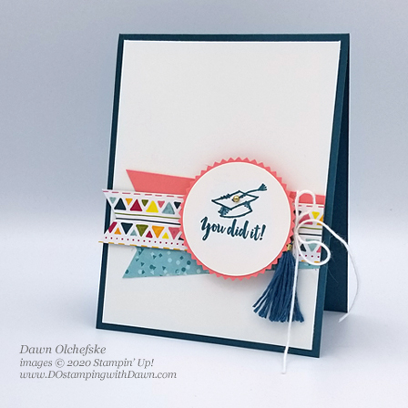 Stampin' Up! Witty-Cisms card by Dawn Olchefske #dostamping #howdshedothat #stampinup #handmade #cardmaking #stamping #papercrafting  #graduation
