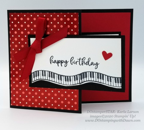 Stampin' Up! Music from the Heart swap cards shared by Dawn Olchefske #dostamping #howdshedothat #stampinup #handmade #cardmaking #stamping #papercrafting #DOstamperSTARS (Karla Larson)