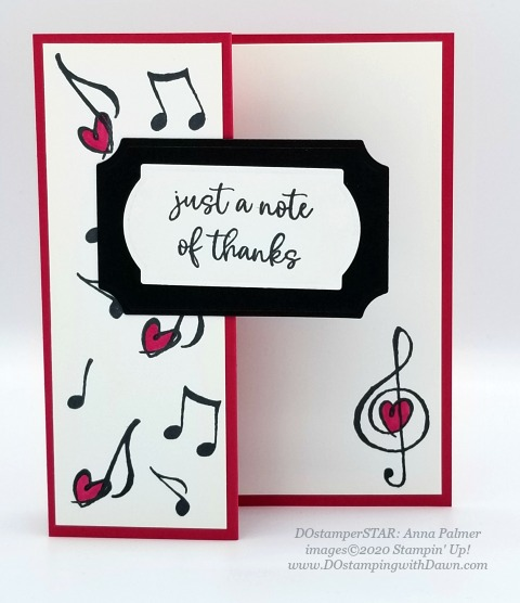 Stampin' Up! Music from the Heart swap cards shared by Dawn Olchefske #dostamping #howdshedothat #stampinup #handmade #cardmaking #stamping #papercrafting #DOstamperSTARS (Anna Palmer)