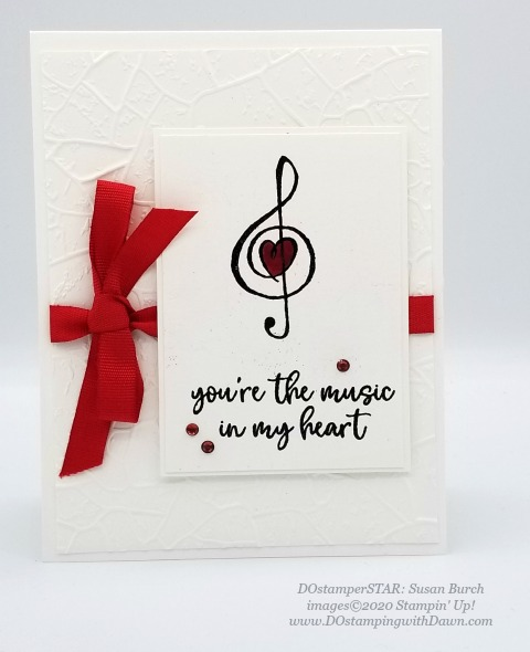 Stampin' Up! Music from the Heart swap cards shared by Dawn Olchefske #dostamping #howdshedothat #stampinup #handmade #cardmaking #stamping #papercrafting #DOstamperSTARS (Susan Burch)
