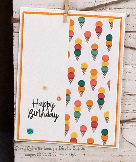 Stampin' Up! Birthday Bonanza Suite Display Board cards from Stamp Share for Leaders event - shared by Dawn Olchefske #dostamping #stampinup #cardmaking #stamping #papercrafting