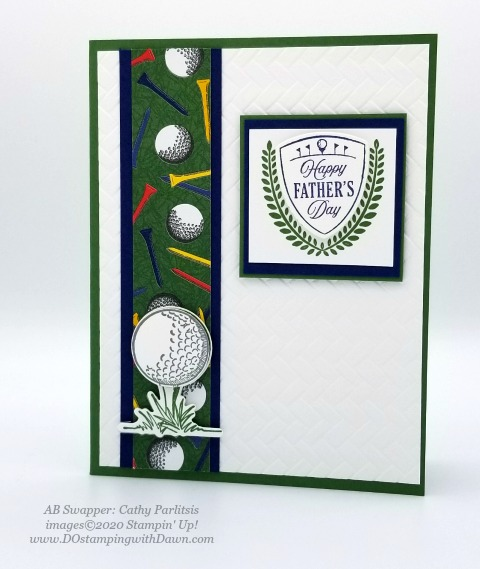 Stampin' Up! Country Club Suite swap card shared by Dawn Olchefske #dostamping #howdshedothat #stampinup #handmade #cardmaking #stamping #papercrafting (Cathy Parlitsis)