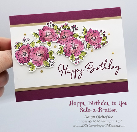 Your Creative Connection: Happy Birthday To You from Stampin' Up! 2020 Sale-a-Bration created by Dawn Olchefske #dostamping #howdshedothat #stampinup #handmade #cardmaking #stamping #papercrafting  #YCC102 #yourcreativeconnection #coordinationproductrelease