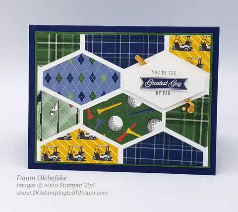 Your Creative Connection 103: Country Club Suite Tailored Tag card from Dawn Olchefske #dostamping #howdshedothat #stampinup #handmade #cardmaking #stamping #papercrafting  #YCC103 #yourcreativeconnection #masculine #clubhouse