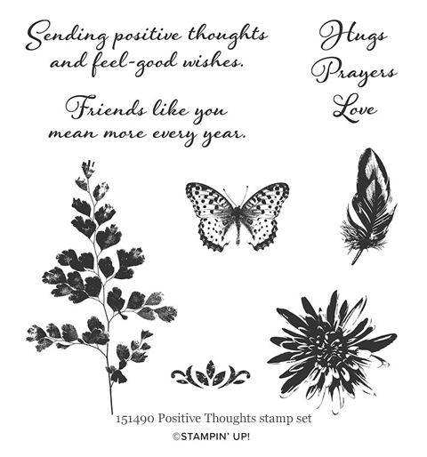 151490 - Positive Thoughts stamp set from Stampin' Up! - Dawn Olchefske #dostamping #stampinup #rubberstamping #cardmaking