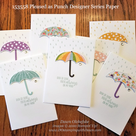 Quick & Cute Pleased as Punch Designer Series Paper Notecards from Dawn Olchefske #dostamping #howdshedothat #stampinup #handmade #cardmaking #stamping #papercrafting