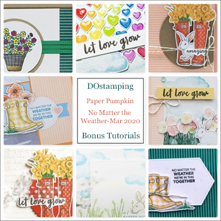 No Matter the Weather, March 2020 Paper Pumpkin with DOstamping to receive a free alternate ideas tutorial PDF bonus each month.  Subscribe with Dawn Olchefske here:  http://bit.ly/DOstampingPaperPumpkin  #paperpumpkin #dostamping #stampinup #alternativeideas
