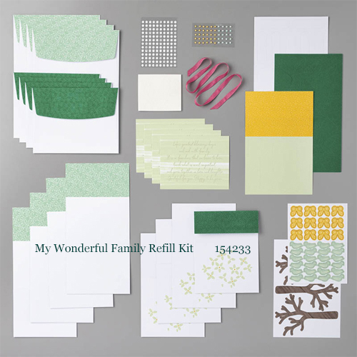 Paper Pumpkin April 2020 My Wonderful Family Refill Kit - 154233 | Dawn Olchefske dostamping #stampinup #handmade #cardmaking #stamping #diy #papercrafting #paperpumpkin