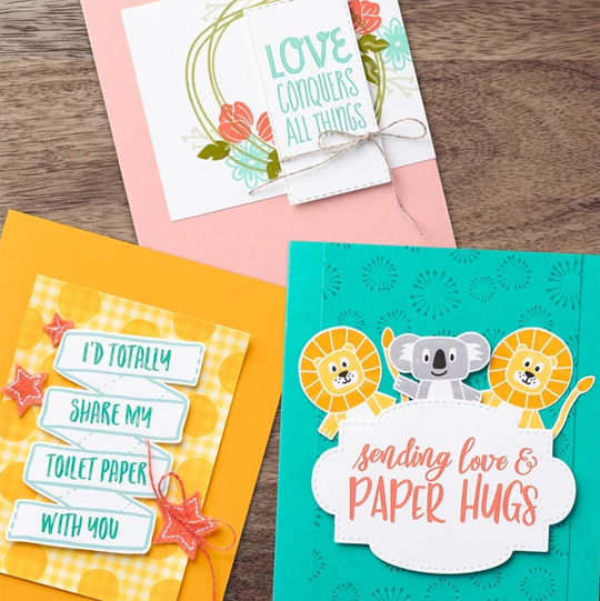 Stampin' Up! Sharing Sunshine PDF Download and donation to COVID-19 efforts #dostamping #stampinup #cardmaking ##papercrafting  Learn more at: https://covid19.stampinup.com/products/giving-back-us-ca