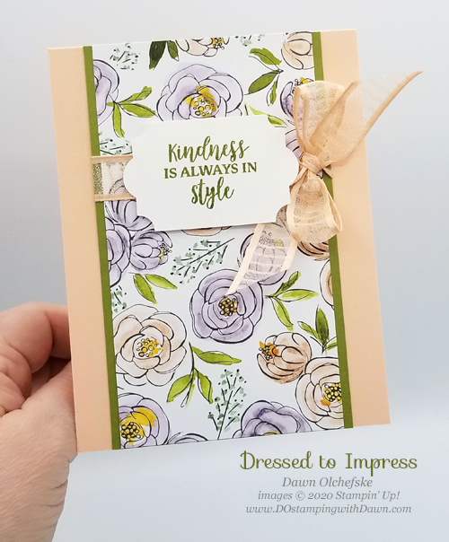 Stampin' Up! Best Dressed quick & cute cards by Dawn Olchefske #dostamping #howdshedothat #stampinup #handmade #cardmaking #stamping #papercrafting
