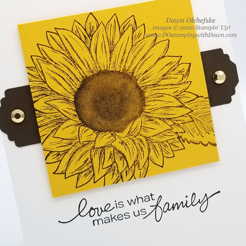 Stampin' Up! Celebrate Sunflowers card by Dawn Olchefske #dostamping #howdshedothat #stampinup #handmade #cardmaking #stamping #papercrafting  #YCC108 #YourCreativeConnection