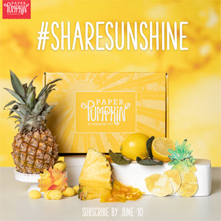 Paper Pumpkin June 2020 - Box of Sunshine Sneak Peek, subscribe with Dawn Olchefske by June10th at http://bit.ly/DOstampingPaperPumpkin #paperpumpkin #dostamping #stampsinthemail