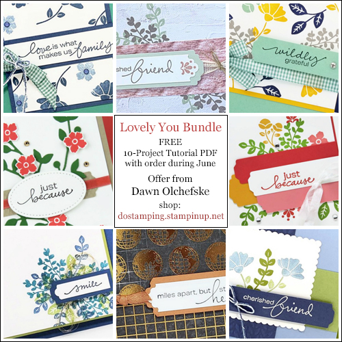 DOstamping JUNE 2020 order BONUS - FREE Lovely You Bundle 10-Project Tutorial PDF, shop with Dawn Olchefske, https://bit.ly/shopwithdawn | #dostamping #LovelyYou #cardmaking