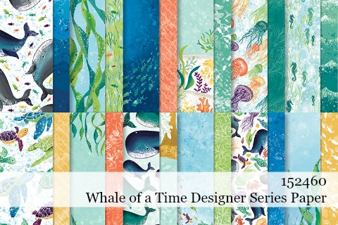152460-Whale of a Time Designer Series Paper details shared by Dawn Olchefske #dostamping #stampinup #handmade #cardmaking #papercrafting