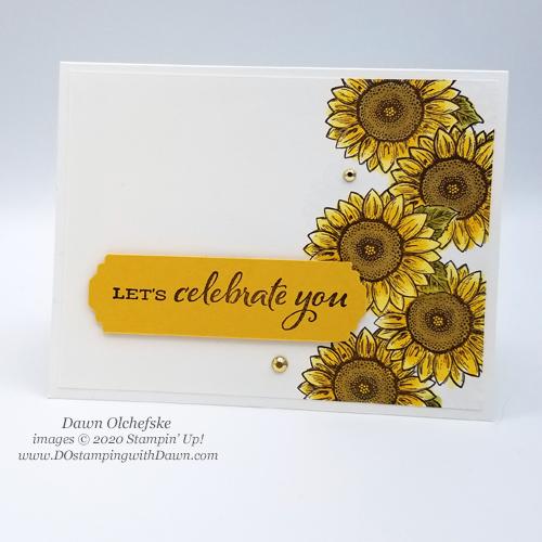 CelebrateSunflowersMasking Technique with Celebrate Sunflowers from Dawn Olchefske #dostamping #howdshedothat #stampinup #handmade #cardmaking #stamping #papercrafting#stampingtechnique #celebratingsunflowers #stampinblends