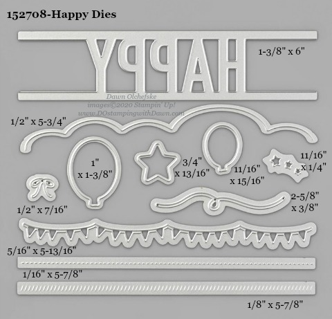 Stampin' Up! Happy Dies #DOstamping #stampinup #stampincut #cardmaking #HowdSheDOthat #papercrafting #Happy