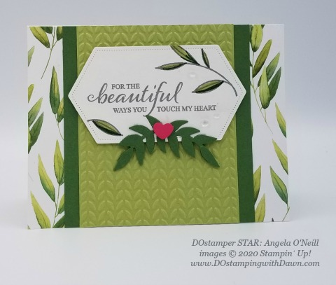 Stampin' Up! DOstamperSTAR Touched My Heart (Host stamp set) swap shared by Dawn Olchefske #dostamping #howdshedothat #stampinup #handmade #cardmaking #stamping #papercrafting (Angela O'Neill)