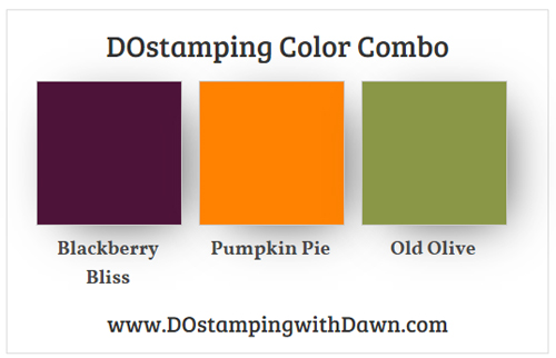 Stampin' Up! Color Combo Blackberry Bliss, Pumpkin Pie, Old Olive from Dawn Olchefske #dostamping #stampinup #colorcombo