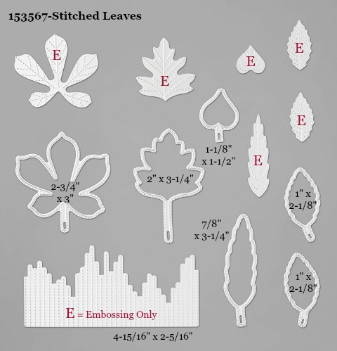 153567-Stampin' Up! Stitched Leaves Die measurements #DOstamping #stampinup #stampincut #cardmaking #HowdSheDOthat #papercrafting