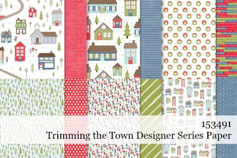 Stampin' Up! Trimming the Town Designer Series Paper shared by Dawn Olchefske #dostamping #stampinup #handmade #cardmaking #stamping #papercrafting
