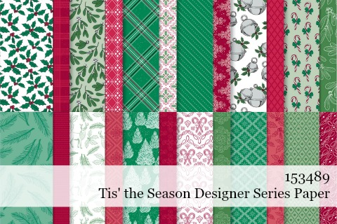 Stampin' Up! Tis the Season Designer Series Paper shared by Dawn Olchefske #dostamping #stampinup #handmade #cardmaking #stamping #papercrafting
