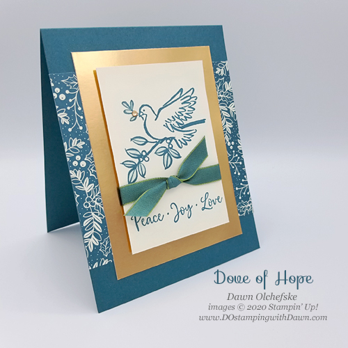 Masked Dove of Hope card by Dawn Olchefske #dostamping #howdshedothat #stampinup #handmade #stamping #papercrafting  #YCC115 #YourCreativeConnection #christimascards