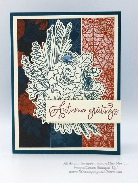 Stampin' Up! Autumn Greetings card shared by Dawn Olchefske #dostamping #howdshedothat #stampinup #handmade #cardmaking #stamping #papercrafting (Susan Elise Morton)