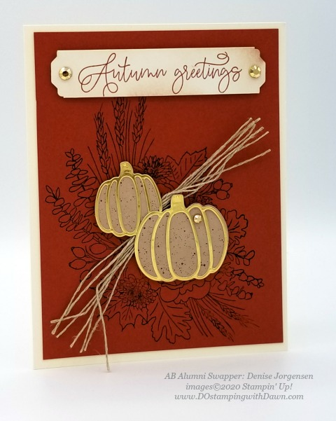 Stampin' Up! Autumn Greetings card shared by Dawn Olchefske #dostamping #howdshedothat #stampinup #handmade #cardmaking #stamping #papercrafting (Denise Jorgensen)