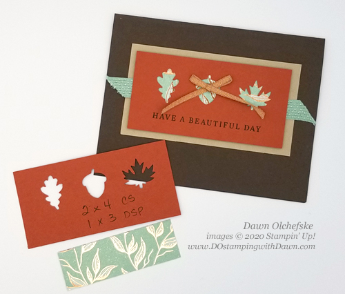 Stampin' Up! Autumn Punch Pack card by Dawn Olchefske #dostamping #howdshedothat #stampinup #handmade #cardmaking #stamping #papercrafting