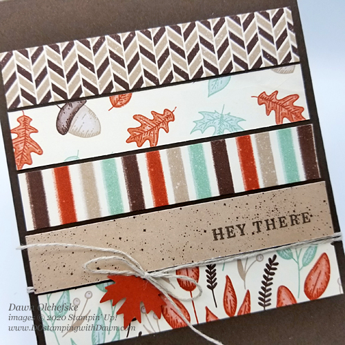 Stampin' Up! Gilded Autumn Specialty Designer Series Paper card by Dawn Olchefske #dostamping #howdshedothat #stampinup #handmade #cardmaking #stamping #papercrafting #quickandcute