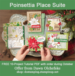 DOstamping OCTOBER 2020 order BONUS - FREE Poinsettia Place Suite 10-Project Tutorial PDF, https://bit.ly/shopwithdawn | #dostamping #cardmaking #poinsettiaplace #stampinup