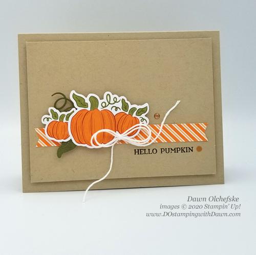 Paper Pumpkin September 2020 - Hello Pumpkin | Dawn Olchefske dostamping #stampinup #handmade #cardmaking #stamping #diy #papercrafting #paperpumpkin #cardkits #halloweencards