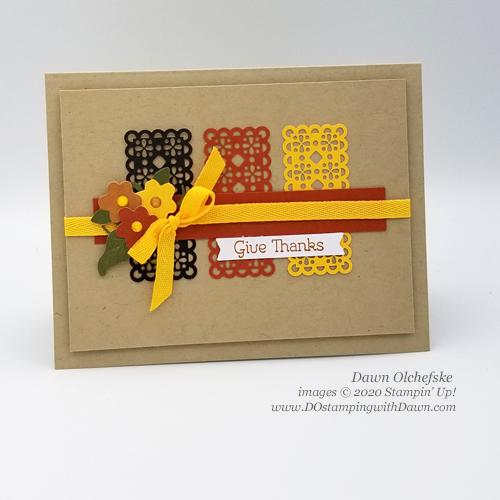 Paper Pumpkin September 2020 - Hello Pumpkin | Dawn Olchefske dostamping #stampinup #handmade #cardmaking #stamping #diy #papercrafting #paperpumpkin #cardkits #thanksgivingcards