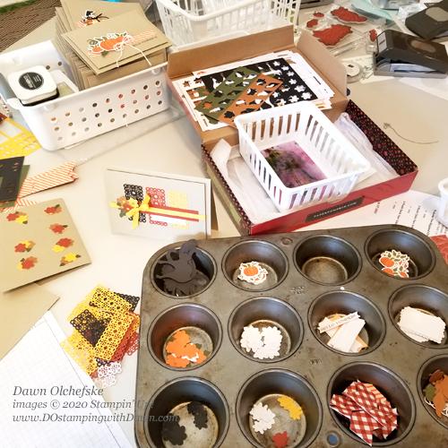 Behind the scenes of Paper Pumpkin September 2020 - Hello Pumpkin | Dawn Olchefske dostamping #stampinup #handmade #cardmaking #stamping #diy #papercrafting #paperpumpkin #cardkits #halloweencards