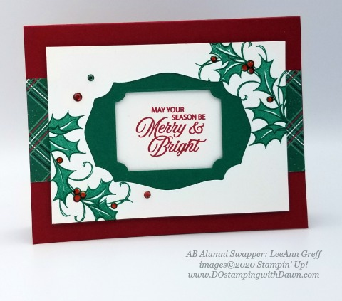 Stampin' Up! Joyful Holly, Christmas swap card shared by Dawn Olchefske #dostamping #cardmaking #stamping #papercrafting (LeeAnn Greff)