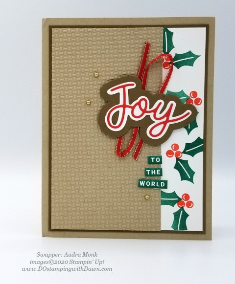 Stampin' Up! Peace and Joy swap shared by Dawn Olcheske #dostamping #christmas cards (Audra Monk)