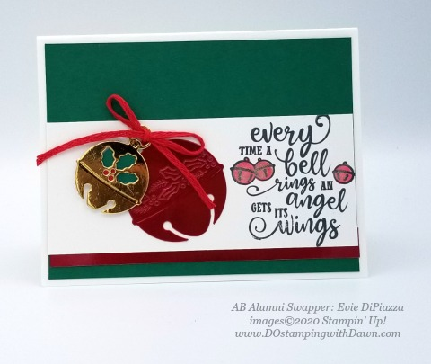 Stampin' Up! Christmas Means More swap shared by Dawn Olcheske #dostamping #christmas cards AB-Evie DiPiazzaie