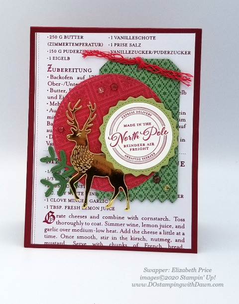 Stampin' Up! Wishes and Wonder Bundle swap shared by Dawn Olcheske #dostamping #christmas cards Elizabeth Price