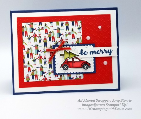 Stampin' Up! Coming Home swap shared by Dawn Olcheske #dostamping #christmas cards AB-Amy Storrie