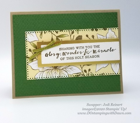 Stampin' Up! For Unto Us swap shared by Dawn Olcheske #dostamping #christmas cards AB-Jodi Reinert
