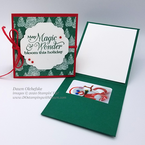 Stampin' Up! Gift Card Holder by Dawn Olchefske#dostamping #diy #papercrafting-open
