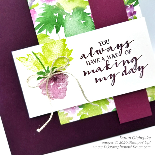 Stampin' Up! Berry Blessings Bundle Sale-a-Bration card by Dawn Olchefske #DOswts354 #dostampingm#dostamperSTARS #papercrafting-CU