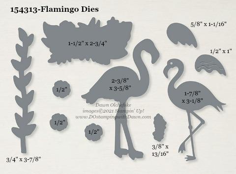 154313-Stampin' Up! Flamingo Dies measurements #DOstamping #stampinup #stampincut #cardmaking #HowdSheDOthat #papercrafting