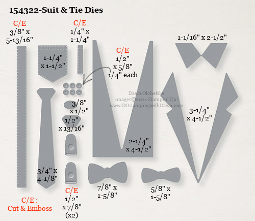 154322-Stampin' Up! Suit & Tie Dies measurements #DOstamping #stampinup #stampincut #cardmaking #HowdSheDOthat #papercrafting