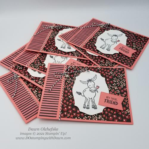 FREE Sale-a-Bration.Darling Donkeys stamp set card by Dawn Olchefske #dostamping #stampinup #papercrafting-g