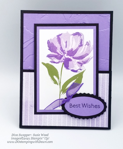 Stampin' Up! Fine Art Floral card swap shared by Dawn Olchefske #dostamping #cardmaking (Susie Wood)